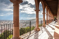 Overview of city from the Bufa with suggestive rays of sun after the storm. Zacatecas, ZAC. Mexico