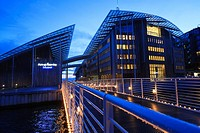 Tjuvholmen district and Astrup Fearnley Museum by Renzo Piano. Oslo. Norway.