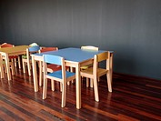 tables and chairs for children.