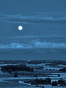 Blue Moon, Leon province, Spain. They call Blue Moon (Blue Moon English translation) to the second full moon occurring during the same month of the Gr...