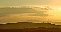 "Sunset. Destriana de la Valduerna, from the alto de Castrotierra, León province. Spain. Image taken using a similar """"Time-Stack"""" technique, in parti..."