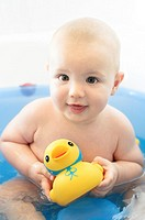 Baby Boy and Yellow Duck