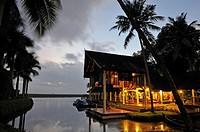 Kumarakom Lake Resort hotel, Kerala state, South India, Asia.