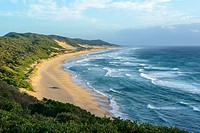 View of Maputaland coastline at Mabibi. iSimangaliso Wetland Park (Greater St Lucia Wetland Park). KwaZulu Natal. South Africa.