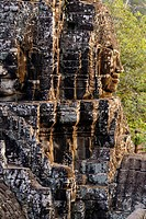 Cambodia, Angkor on World Heritage list of UNESCO, Bayon temple, built in XII-XIII century by King Jayavarman VII.