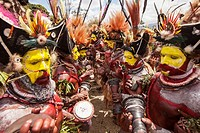Goroka festival, 140 ethnic tribes come together for three day Sing sing, Goroka, Eastern Highlands, Papua New Guinea.
