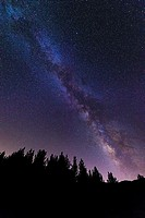 The Milky Way over Rose Valley, Los Padres National Forest, California.