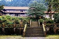 Emei Mountain, Sichuan province, China - The Xianfeng Monastery.