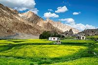 Markha village. Trekking in Markha valley (Laddakh, India).