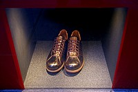 Shoes in showcase