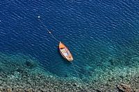 Harbour of Thirassia, Santorini, Cyclades, Aegean Sea, Greece