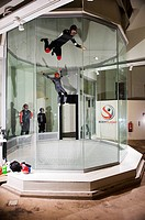 Indoor skydiving training with Bodyflight, Stockholm Sweden