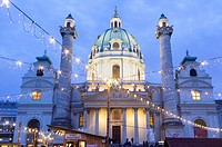 Karlskirche (St. Charles´s Church)Vienna, Austria.