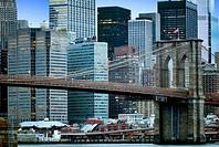 New York City, Brooklyn Bridge, Manhattan, Skyline