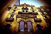Casa Bonaventura Ferrer. Building located at number 113 of Passeig de Gracia. Designed by architect Pere Falqués i Urpí following a Modernisme or Art ...