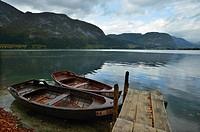 Slovenia. Julian Alps. Triglav National Park. Bohinj lake.