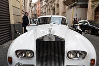 Rolls Royce vintage car.