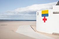 Medical attention at Las Arenas beach. Valencia, Spain.