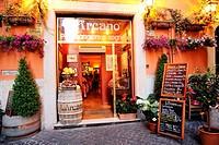 Italy. Rome. Restaurant in Rome.