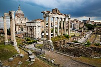 Italy. Rome. The Roman Forum in Rome.