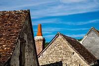 Rural architecture in Langeais, Loire, France.