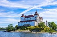 Lacko Castle (Läckö slott) at Lake Vanern, West Gothland, Sweden.