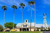 FRont entrance to Celebration Golf Club, Celebration, Florida, America.