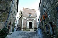 Santa Maria and San Rocco Church, Pitigliano, Maremma, Grosseto, Tuscany, Italy