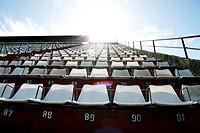 A empty tribune in Buenos aires. HDRI photo.