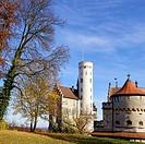 Lichtenstein Castle near Reutlingen, Wurttemberg, Germany, often referred to as the fairytale castle of Wurttemberg.