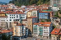 View of Mutriku, País Vasco (Basque Country), Spain