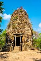 Pre-Angkorian temple ruins at Sambor Prei Kuk, Kampong Thom Province, Cambodia.