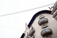 Detail of a modernistic building in calle la Paz (Paz street). Valencia, Spain.