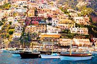 Positano, Campania, Salerno, beautiful Town on the Amalfi Coast.
