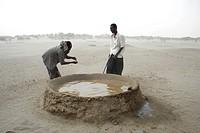 Well, Afar people, Danakil, Ethiopia.