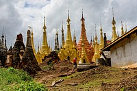 Indein pagodas, Myanmar.