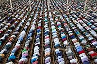 DHAKA, BANGLADESH - JUNE 10 : Bangladeshi Muslims offer prayers on the first Friday of Ramadan in Dhaka, Bangladesh on June 10, 2016. . Muslims around...