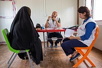 Medical facility for Iraqi internally displaced people.