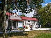 Caretakers House at Edison and Ford Winter Estates in Fort Myers Florida.