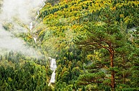 Waterfall in Bujaruelo Valley, Pyrenees Huesca (Huesca Province, Aragón Region, Spain).