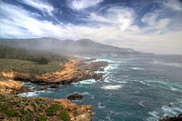 Clouds roll in to Point Lobos State Natural Reserve at Carmel, California