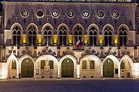 Town hall, Place des Héros, Arras, Pas de Calais Department, Nord-Pas de Calais Picardie region, France.
