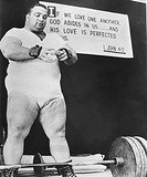 Paul Anderson, performed at weight lifting and strength exhibitions