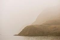 foggy mountain at Marmara sea