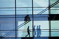 COPENHAGEN, DENMARK Symbolic imagery of office workers.