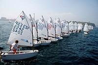 Sailing Optimist Race, Gijon Asturias, Spain