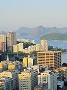 Brazil, City of Rio de Janeiro, Elevated view of the Botafogo and Flamengo Neighbourhoods.