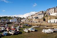 Mevagissey harbour & fishing port, Cornwall, England, United Kingdom.