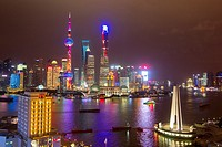 China, Shanghai, The Bund, along the Huangpu river.