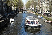 Netherlands, Amsterdam, canal scene